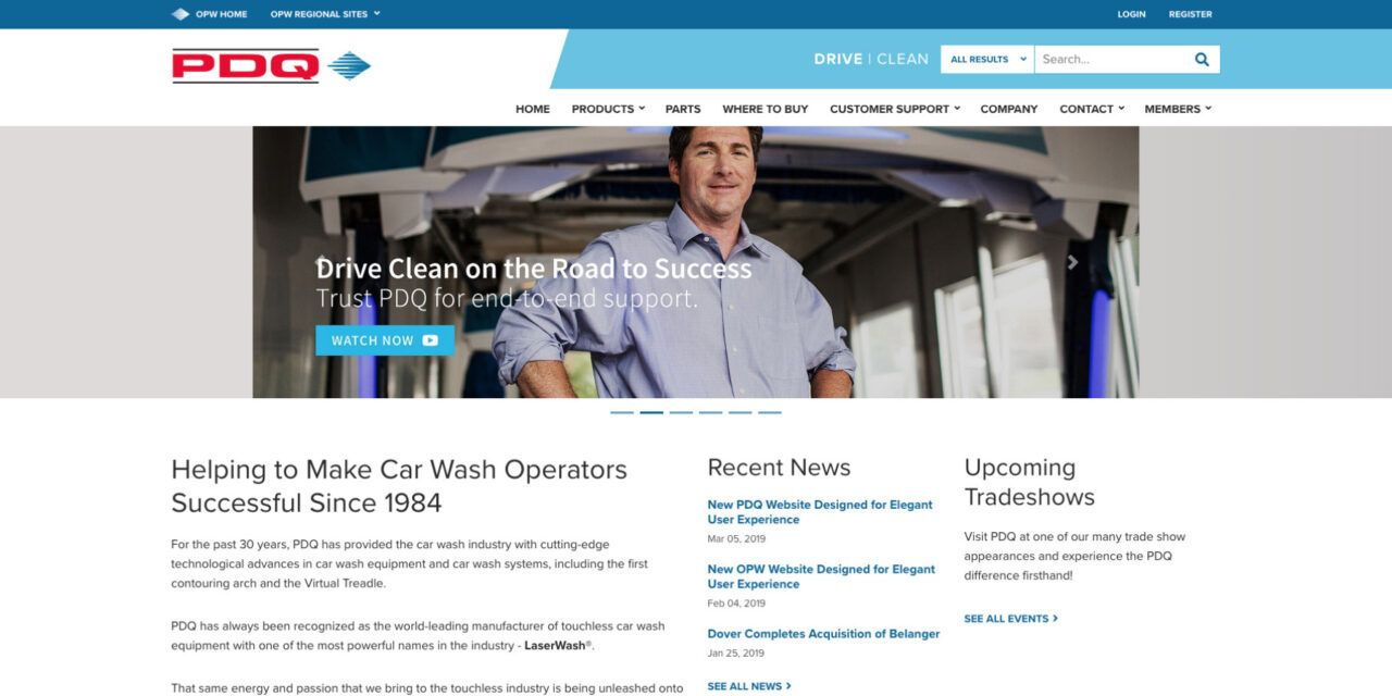 New PDQ WebsiteDesigned for Elegant User Experience